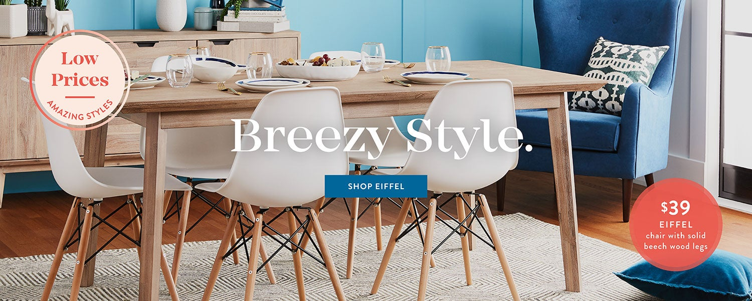 Shop EIFFEL chair with solid beech wood legs & Modern furniture accessories home decor | Structube