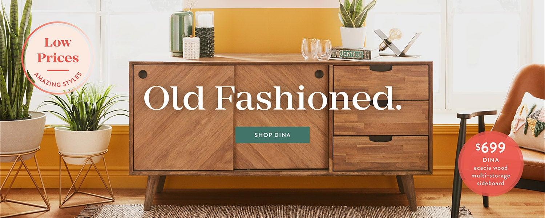Shop dina acacia wood multi storage sideboard