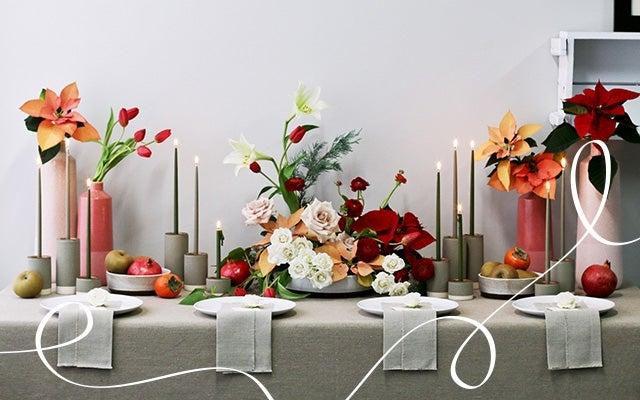 Modern Holiday floral arrangement
