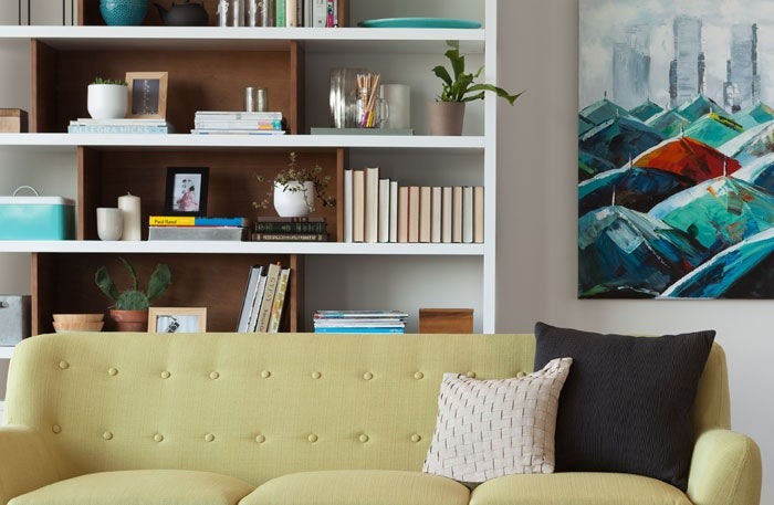 Smart organizing with modern bookshelves, bookcases